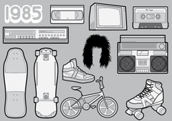 1985 ? A Free Vector Pack of 80s Icons