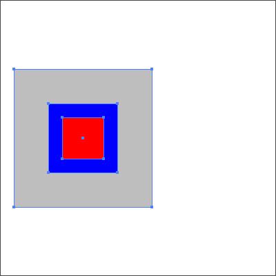 ブルーを基準に整列された。