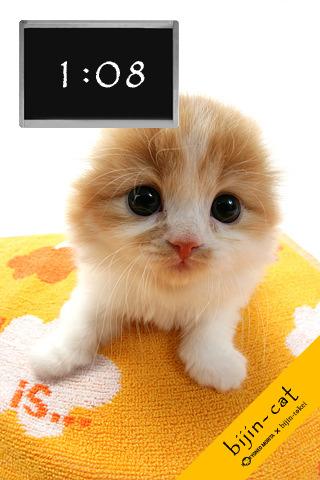 猫ちゃん版美人時計「bijin-cat」だ。