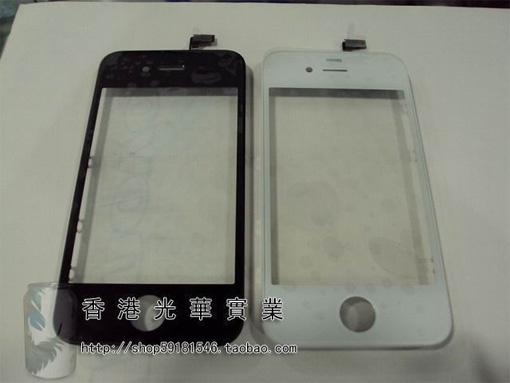 iPhone 4 ホワイトモデル的フロントパネル。