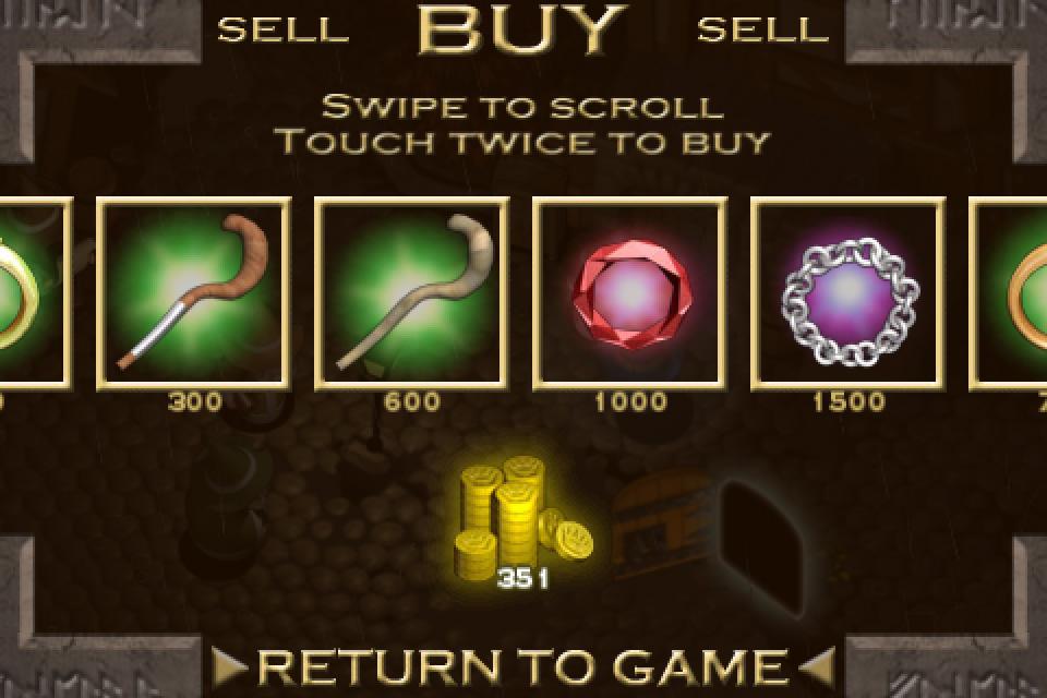 お金が貯まったらアイテムを購入!