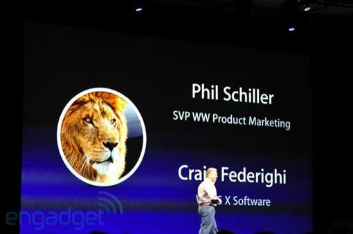 フィル・シラーが登壇し、MacOS X Lionをプレゼン。