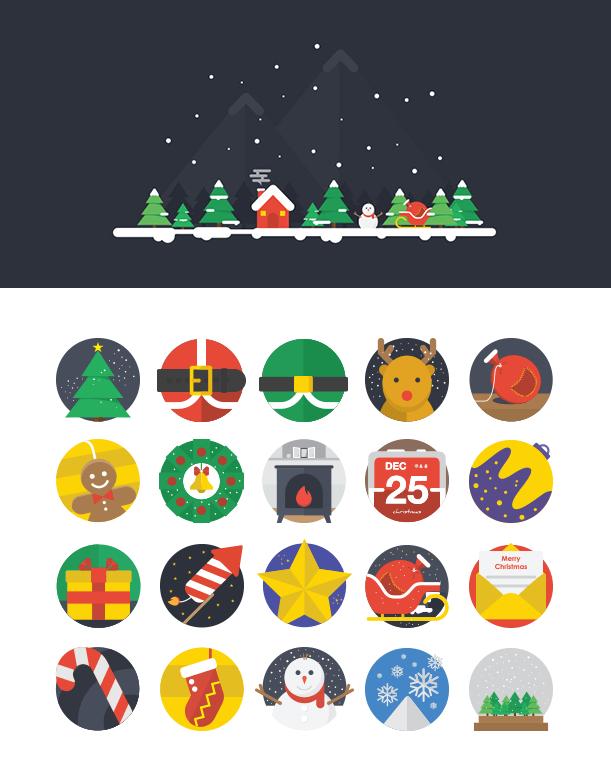 クリスマスにピッタリのアイコンセット3