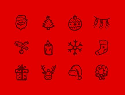 クリスマスにピッタリのアイコンセット9