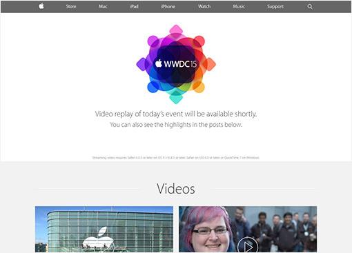 Apple基調講演WWDC15。