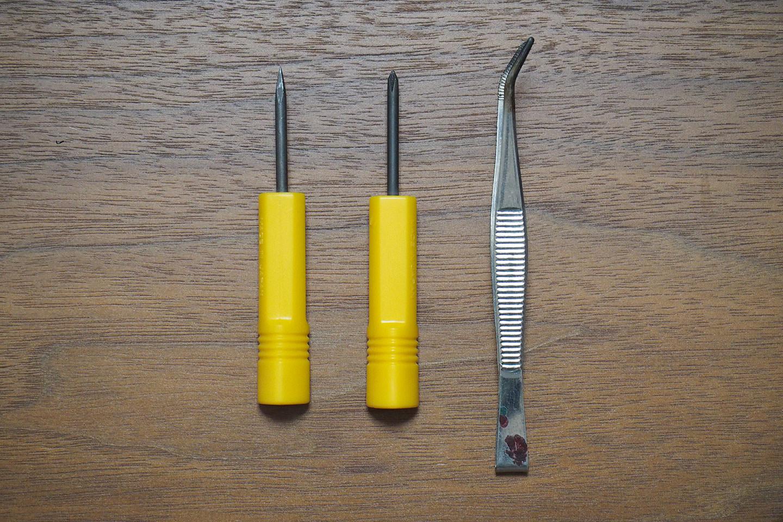 電池交換に必要な工具