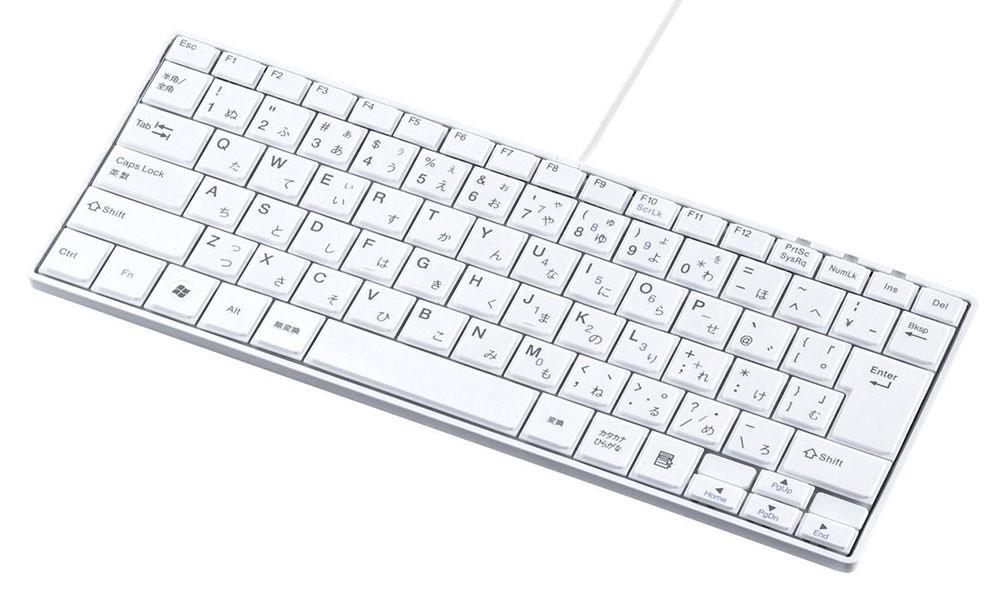 サンワサプライ USBスリムキーボード ホワイト SKB-SL18W