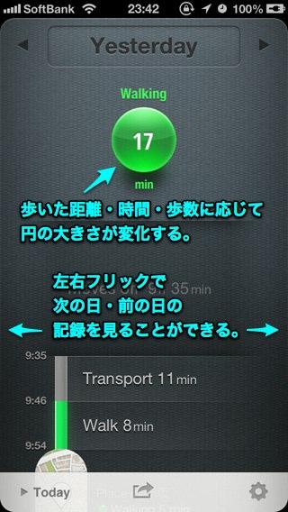 気軽に使えるライフログアプリ「Moves」。