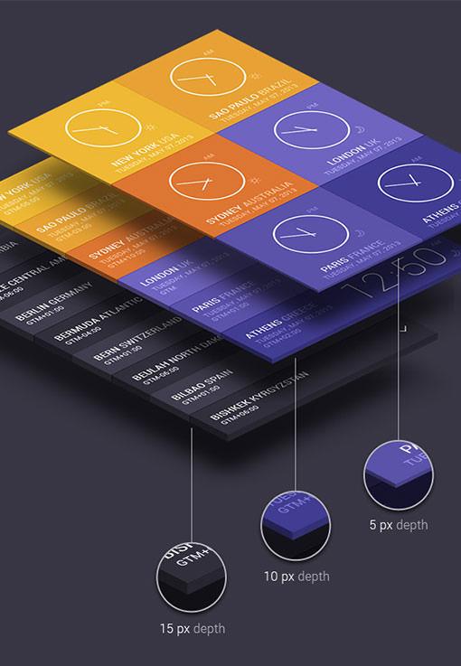 スマートオブジェクトを使って平面デザインを立体パースに変換できる「Isometric Perspective Mock Up」