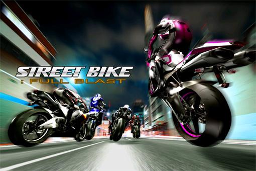 スーパーバイクで公道をかっ飛ばすバイクレースiPhoneアプリ『Streetbike: Full Blast』