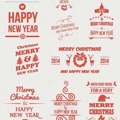 クリスマステーマの無料ベクター素材