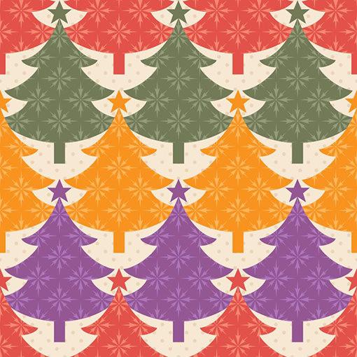 クリスマスツリーのパターン素材