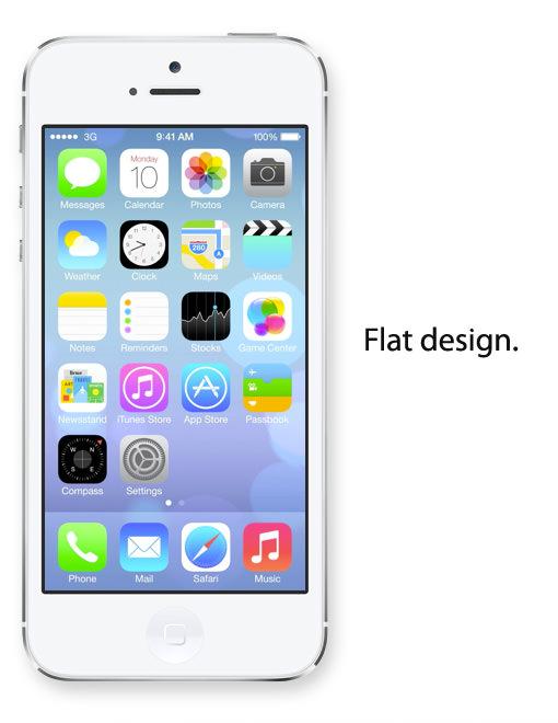 iOS 7 はフラットデザインを採用。