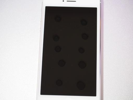 フッ素コーティング剤「Fusso SmartPhone(TM)」をポタポタと10〜15滴垂らす。