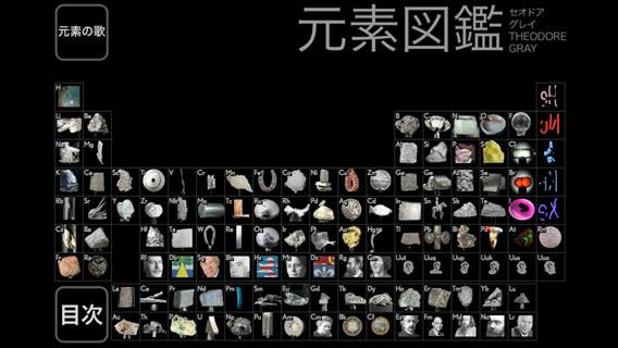 キレイな画像と詳しい解説つき「元素図鑑」。