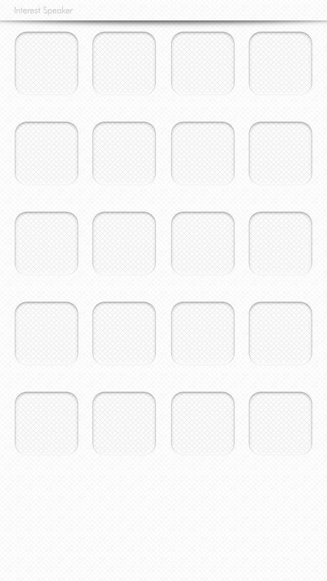 simple01,white iPhone 5 ホーム画面用壁紙