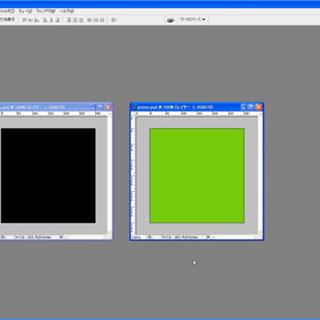 複数のPhotoshopファイル間で図形(レイヤー)をドラッグ→ドロップ