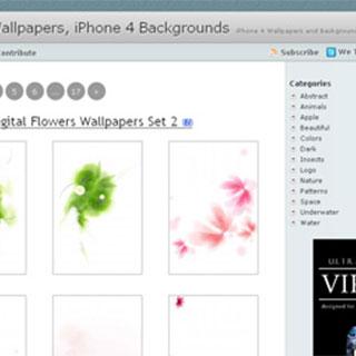iPhone用の壁紙を集めたサイト。