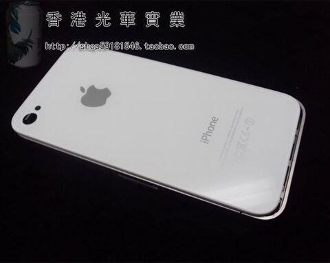 iPhone 4 ホワイトモデル的背面パネル。