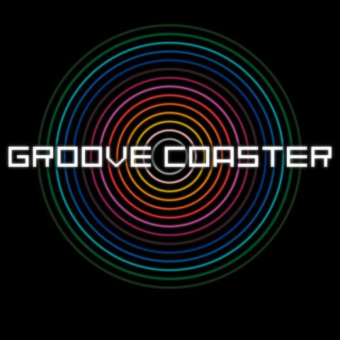 『グルーヴコースター』タイトル画面。