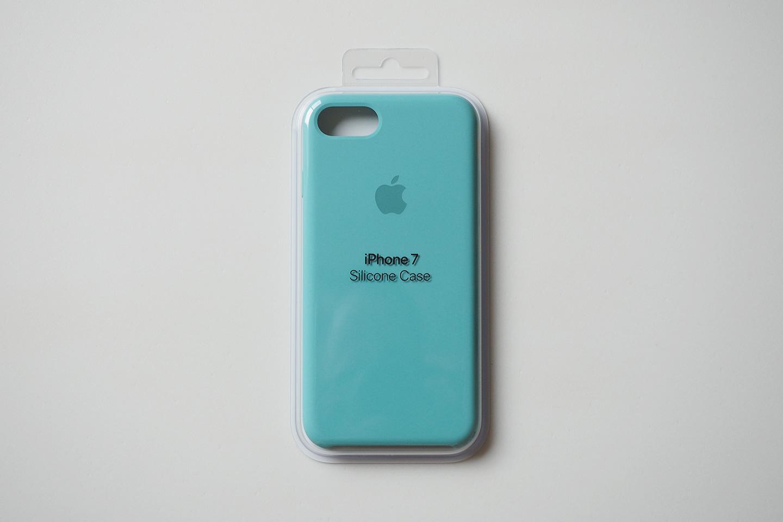 iPhone 7 シリコーンケース(シーブルー)
