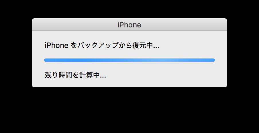 iPhoneをバックアップから復元4