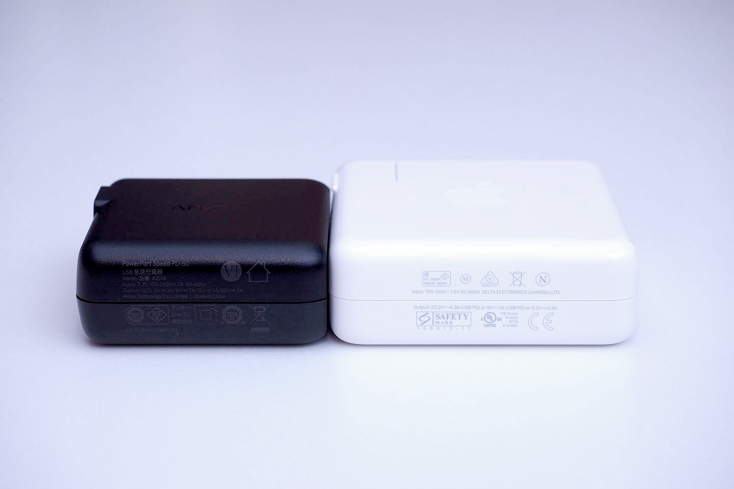 Anker_PowerPort_Speed_1_PD_60_Apple87Wと比較2