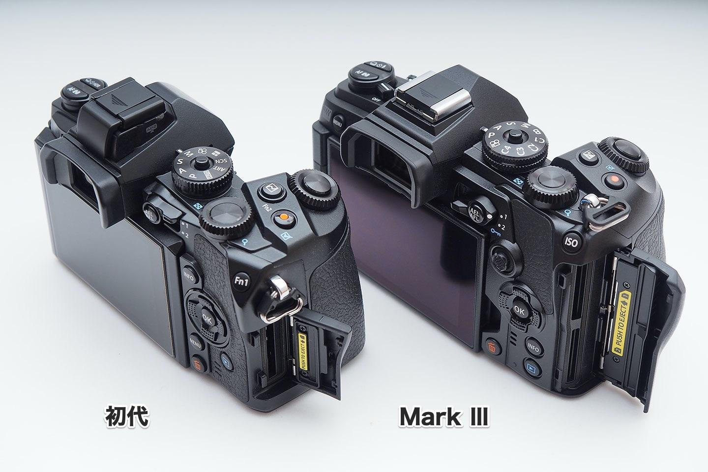 E-M1初代とMarkⅢ_SDカードスロット