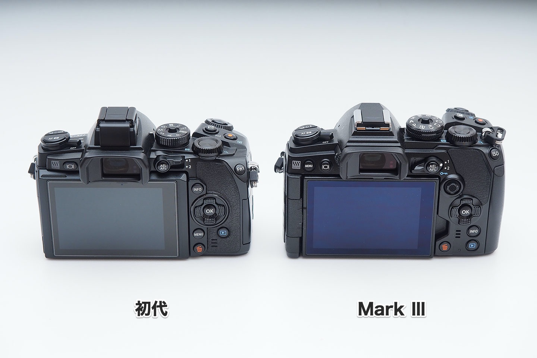 E-M1初代とMarkⅢ_背面