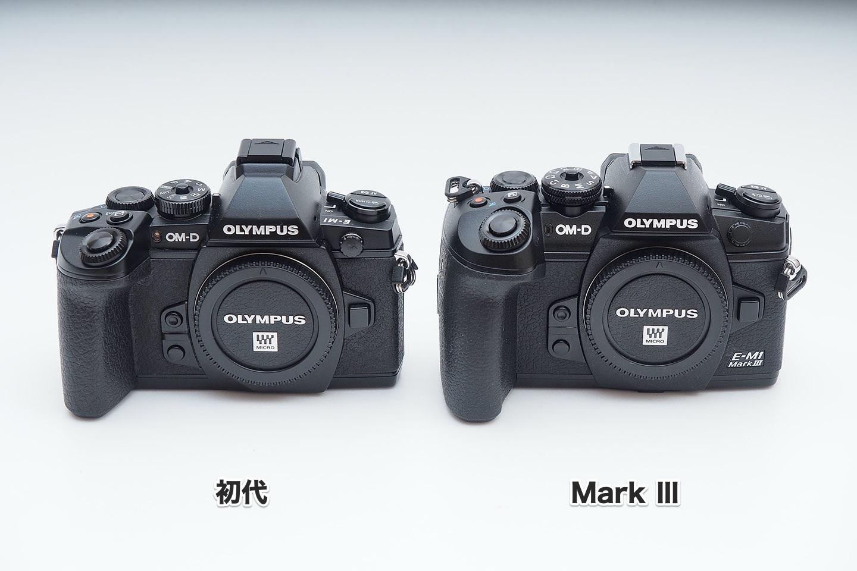 E-M1初代とMarkⅢ_正面
