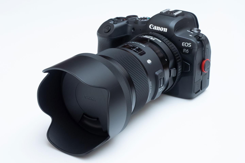 VILTROX EF-R2 を使って EOS R6 に SIGMA ART 50mm F1.4 を装着