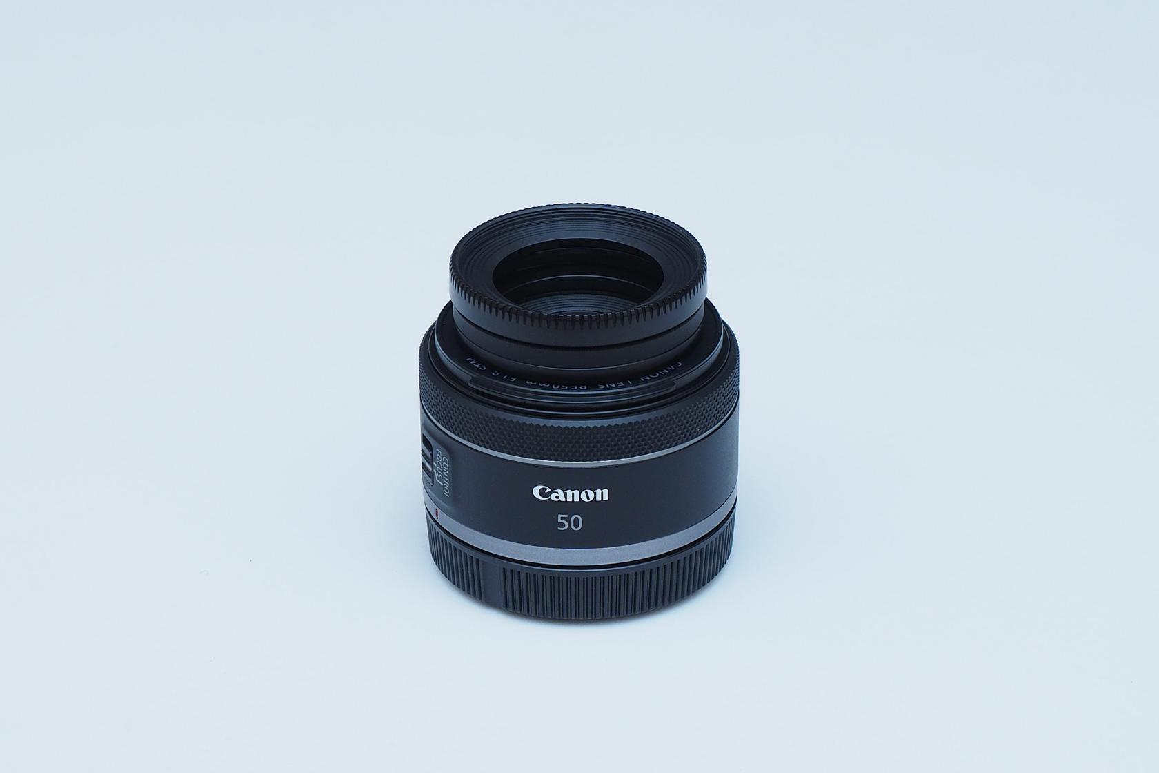 RF50mm+SUリング+BlackMist+レンズフード装着